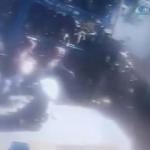 Tamirdeki mazot tankının patlama anı kamerada