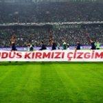 Bursaspor - F.Bahçe maçına damga vuran pankart!