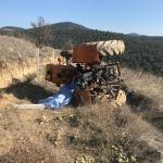 Manisa'da devrilen traktörün sürücüsü hayatını kaybetti