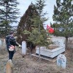 Eskil'de şehit mezarlarının bakımı yapıldı