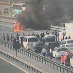TEM Otoyolu'nda araç yangını: Trafiğe kapandı!