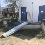 Muğla'da hafriyat kamyonunun devrilme anı güvenlik kamerasında