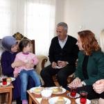Sare Davutoğlu Ercişli şehidin ailesini ziyaret etti