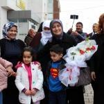 Sare Davutoğlu Erciş'teki kız öğrenci yurdunu ziyaret etti