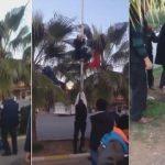 Türk bayrağını indirmek istedi! Pişman edildi