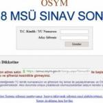 2018 MSÜ sınav sonucu öğrenme sayfası! 18 Mart MSÜ sınavı...