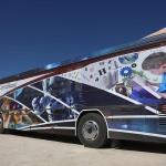 """Hurda otobüs öğrenciler için """"bilim merkezi""""ne dönüştü"""