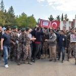 Mardin'de yüksekten düşerek şehit olan polis için tören