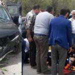 Kazada yaralananların yardımına bakan koştu