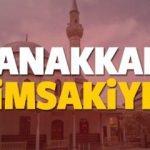 Çanakkale imsakiye sahur ve iftar vakti! Sabah ve Akşam ezanı saati... 2018