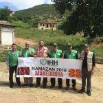 Sakarya İHH Makedonya'da kumanya dağıtıyor
