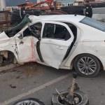 Burdur'da otomobil ile otobüs çarpıştı: 2 yaralı