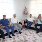 Kaymakam Şimşek'ten yaralı askerin ailesine ziyaret