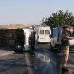 Gaziantep'te işçi servisi devrildi: 17 yaralı