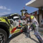 Subaru XV sanat eserine dönüştürüldü