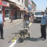 Araban'da trafik ekiplerinden düzenleme çalışması