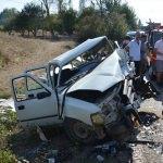 Bilecik'te otomobil ile kamyonet çarpıştı: 4 yaralı