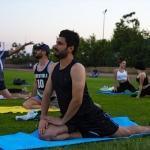 Diyarbakır'da açık havada yoga keyfi