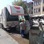Bartın'da çöp konteynerleri dezenfekte edildi