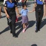 Şehit kızını okula polis arkadaşları götürdü!