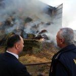 Beyşehir'de besi çiftliğinde yangın