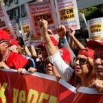 İzmir'de DİSK eylemi