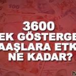3600 ek gösterge ile maaşlara kaç TL zam yapılacak? Kimin maaşı ne kadar olacak?