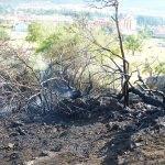 Konya'da sit alanında yangın