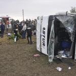 Tekirdağ'da işçi servisi devrildi: 14 yaralı