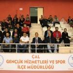 Çal'da voleybol turnuvası düzenlendi