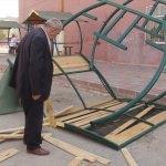 Siirt Belediyesince yapılan bank ve çardaklar tahrip edildi