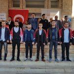 Karamanlı'da asker uğurlama töreni