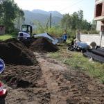 Gülyalı'da kanalizasyon hattı çalışmaları