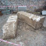 Kütahya'da altyapı kazısında tarihi sütunlara rastlandı