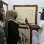 Türkiye'de öğrendiği hat sanatıyla Nijerya'yı süslüyor