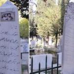 Mezar taşlarındaki yazılar dikkat çekiyor