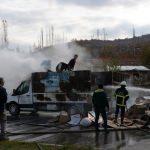 Tokat'ta atık kağıt yüklü pikapta yangın