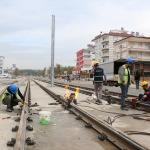 Antalya'da 3. Etap Raylı Sistem Projesi devam ediyor