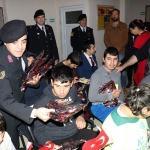 Jandarmadan özel eğitimli öğrencilere ziyaret