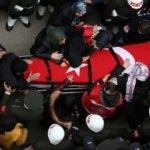 Helikopter kazasında şehit olan askerlere acı veda