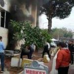 Sultanhisar Emniyet Amirliği'nde yangın