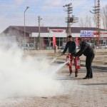 Erciş Devlet Hastanesi'nde yangın tatbikatı
