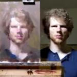 Kendi portresini çizdi! Sosyal medya yıkıldı...