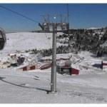 Ordu'daki kayak merkezinde kar sevinci