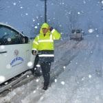 Terme'de karla mücadele