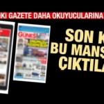 (31 Aralık 2019 Salı) Günün gazete manşetleri