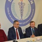Milletvekili Öztürk'ten Sağlık Sen'e ziyaret