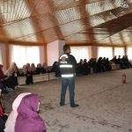 Yatılı kız Kur'an kursunda yangın eğitimi