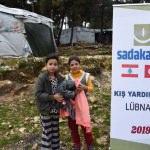 Sadakataşı Derneğinden Lübnan'daki Suriyelilere kış yardımı