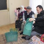 Atıklardan alışveriş çantası yapan Şanlı'ya ziyaret